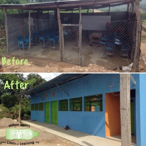 Before and After - El Tablon's school (1)