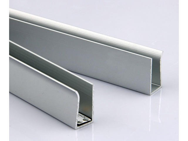 aluminium led profile for edge lighting glass and acrylic shelves