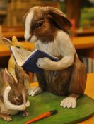 Mrs. Bunny Reads A Bedtime Story