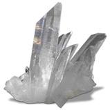 Propriétés minéralogiques du quartz incolore (cristal de roche ou quartz hyalin)