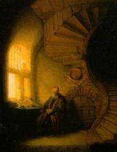 Rembrandt - Le Philosophe en Meditation
