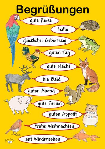 Poster A3 Begrungen Little Linguist