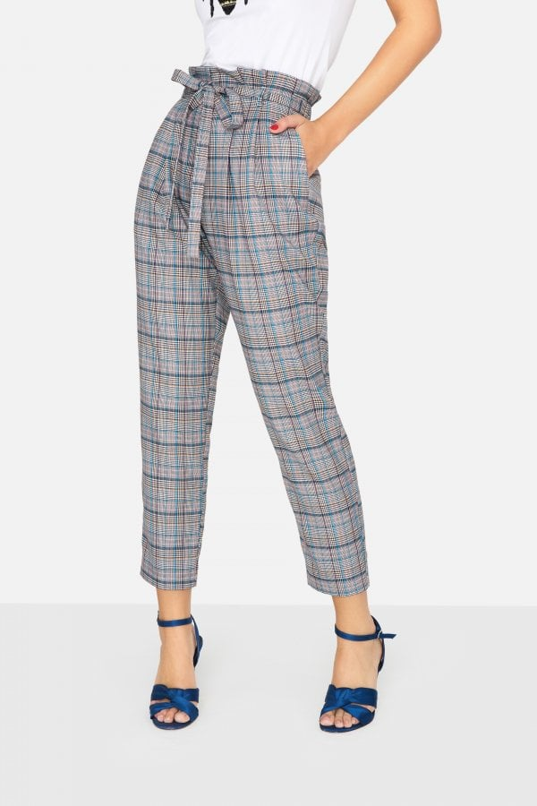 Girls on Film Avenue Check Trousers
