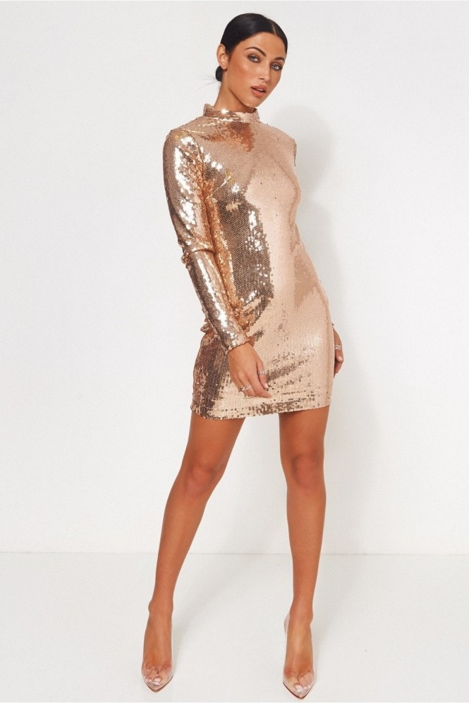 The Fashion Bible Lola Rose Gold Sequin Bodycon Mini Dress 11