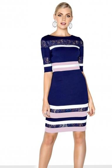 Stripe Lace Dress