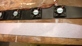 Old setup (top) transferred to new baffle (bottom)
