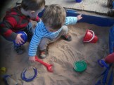 TODDLERS - fun in the sandpit