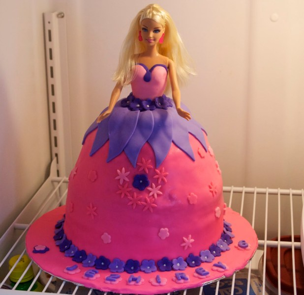 Barbie Doll Cake For St Birthday