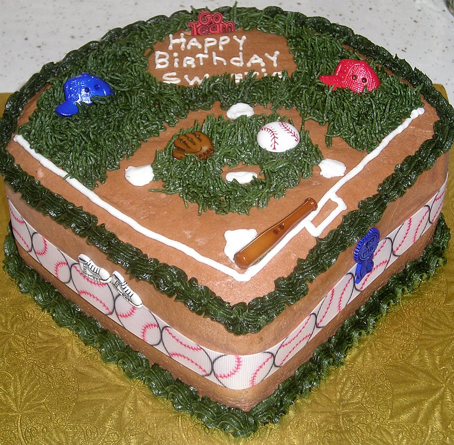 Baseball Cakes Decoration Ideas