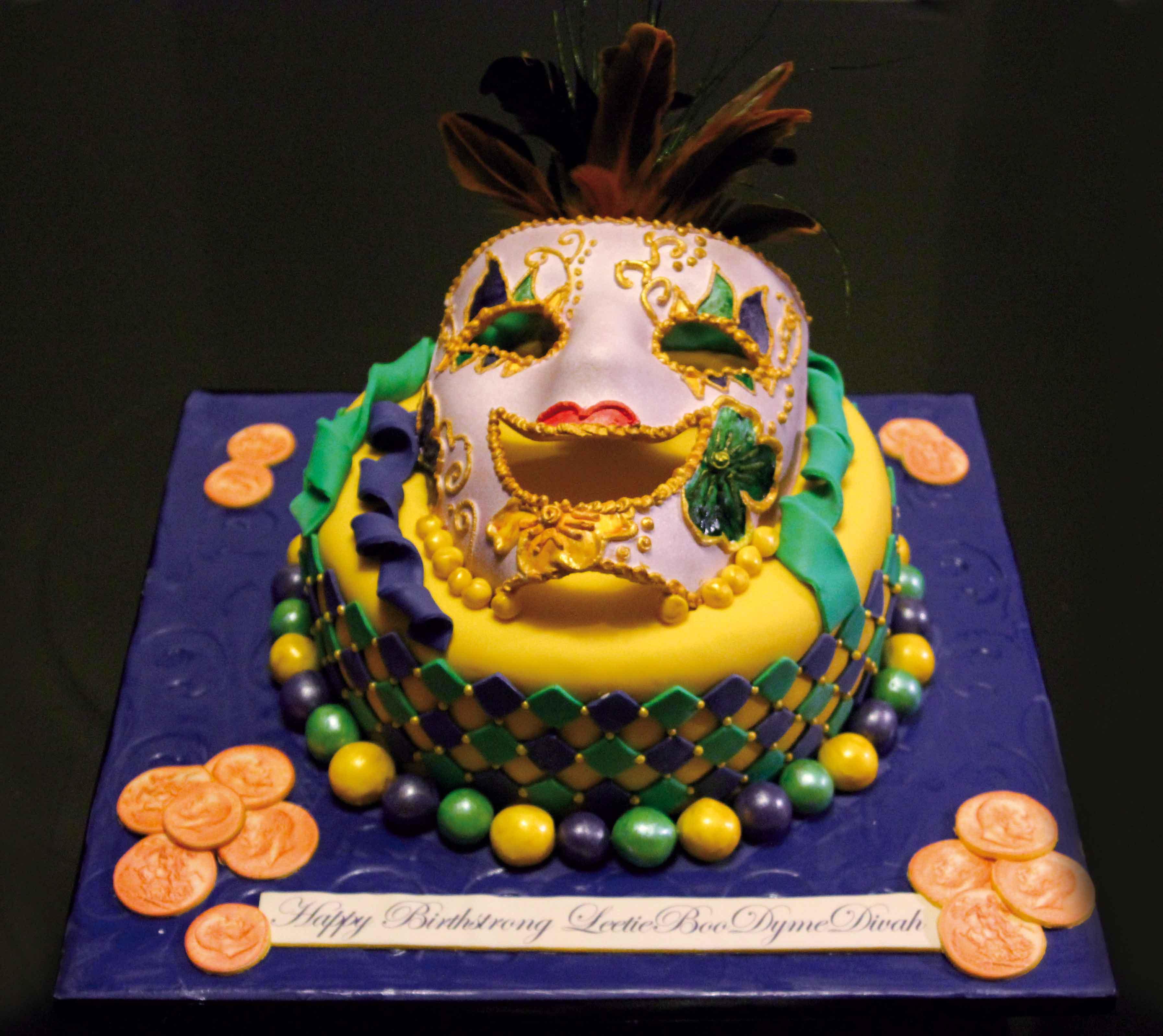 Mardi Gras Cakes Decoration Ideas