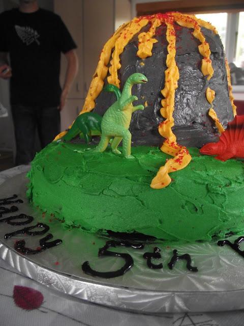 Yellow Dinosaur Cake