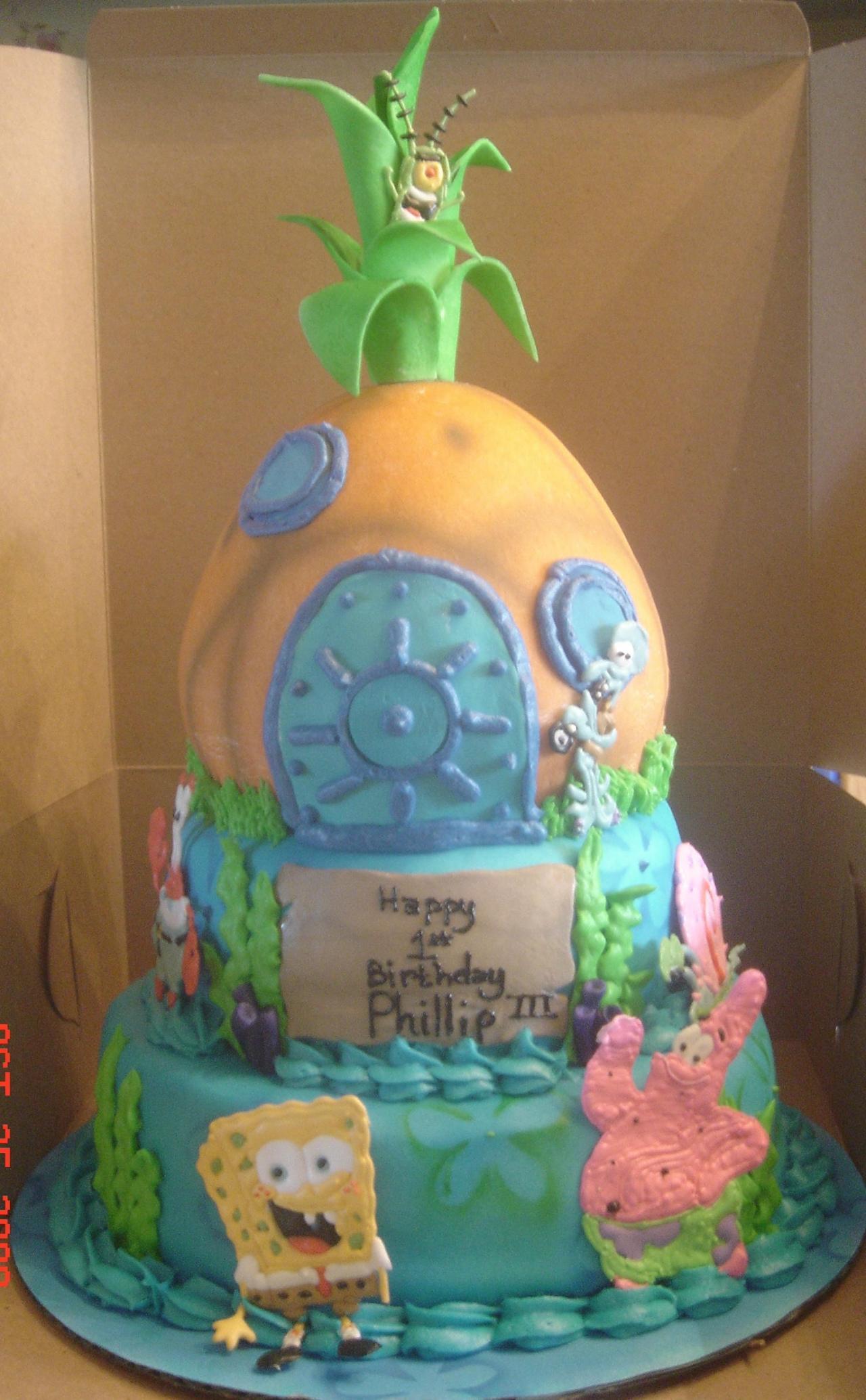 Spongebob Cakes Decoration Ideas