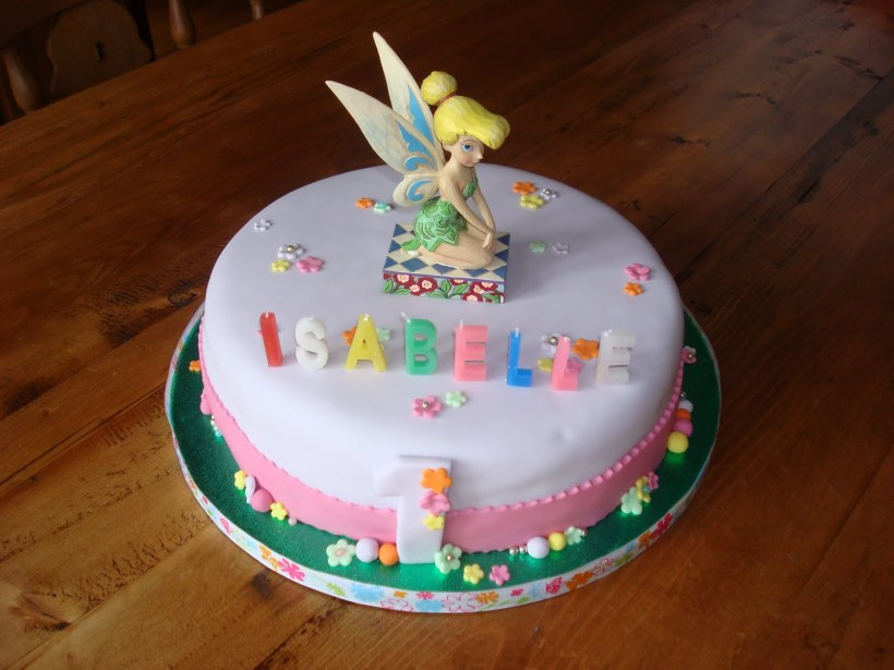 Pictures Of Tinkerbell Birthday Cakes Images Bedwalls