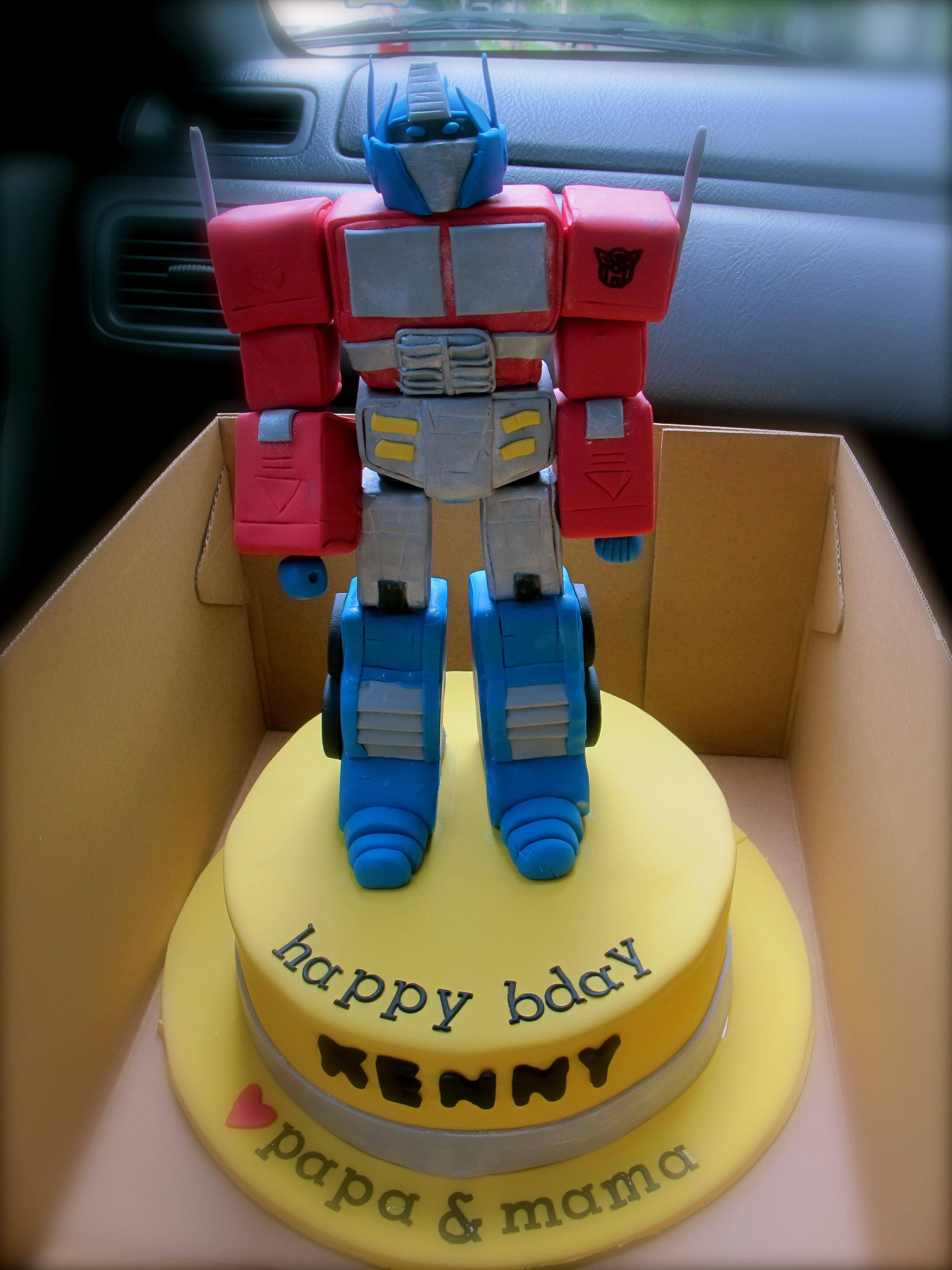 Transformer Cake Ideas Optimus Prime