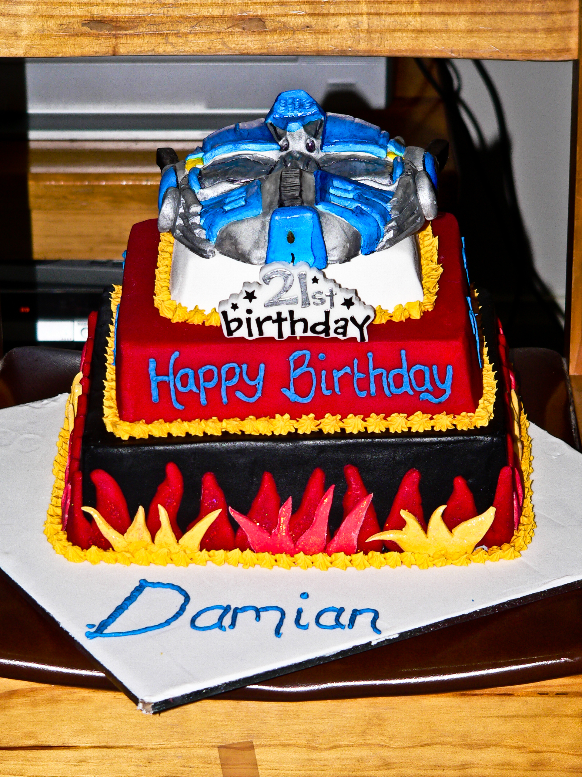 Transformer Cakes Decoration Ideas