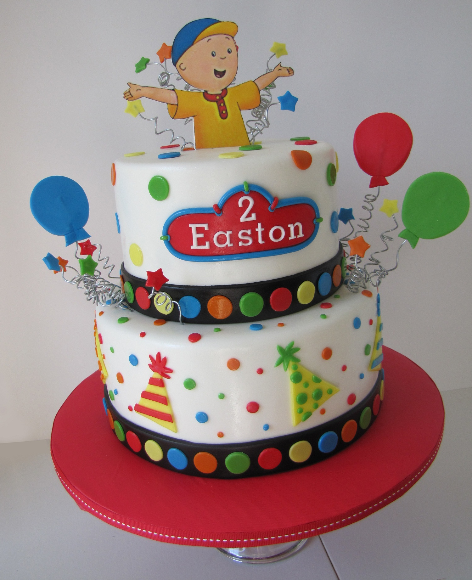 Caillou Birthday Cakes Decoration Ideas