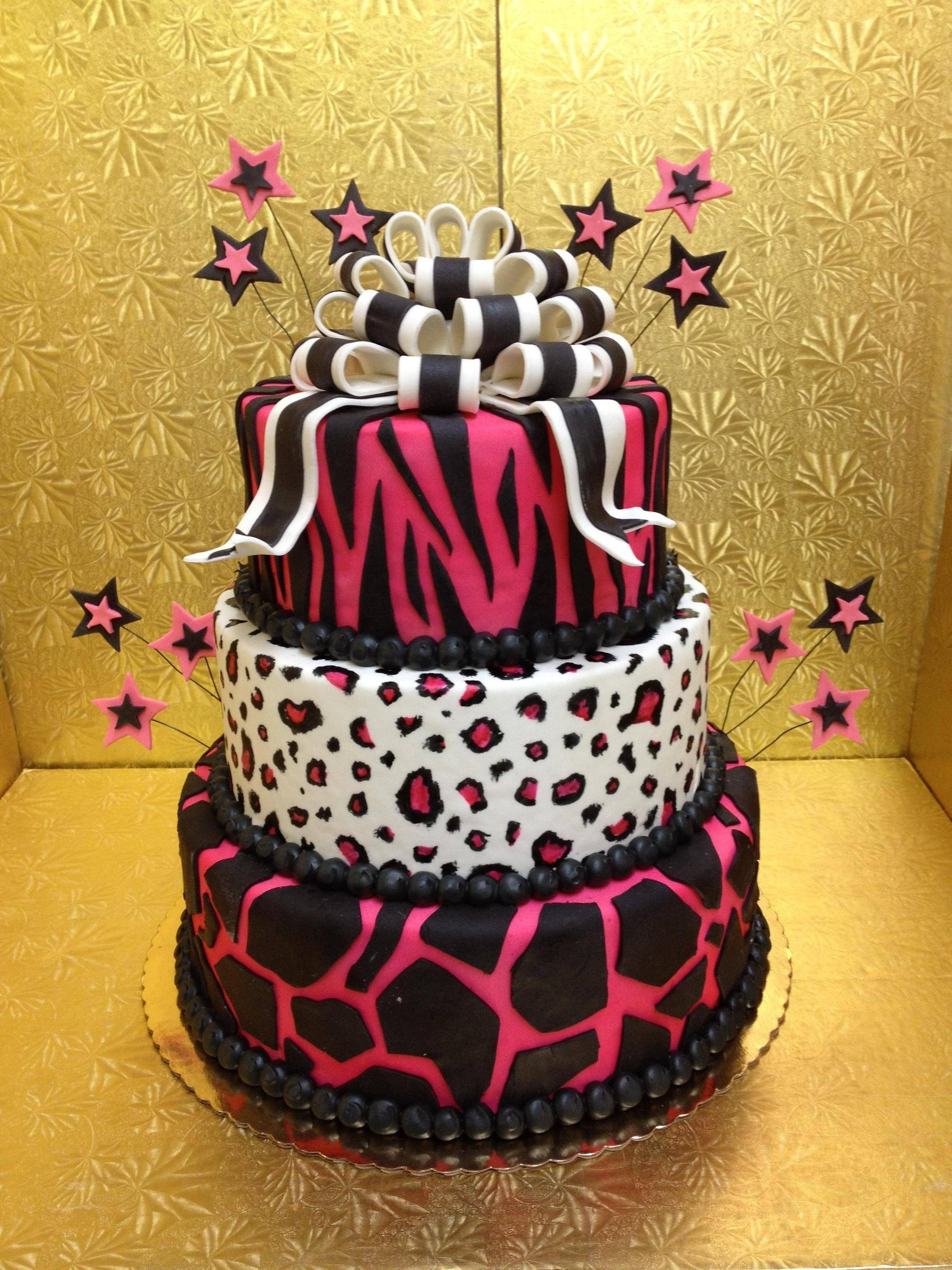 Leopard Print Cakes Decoration Ideas