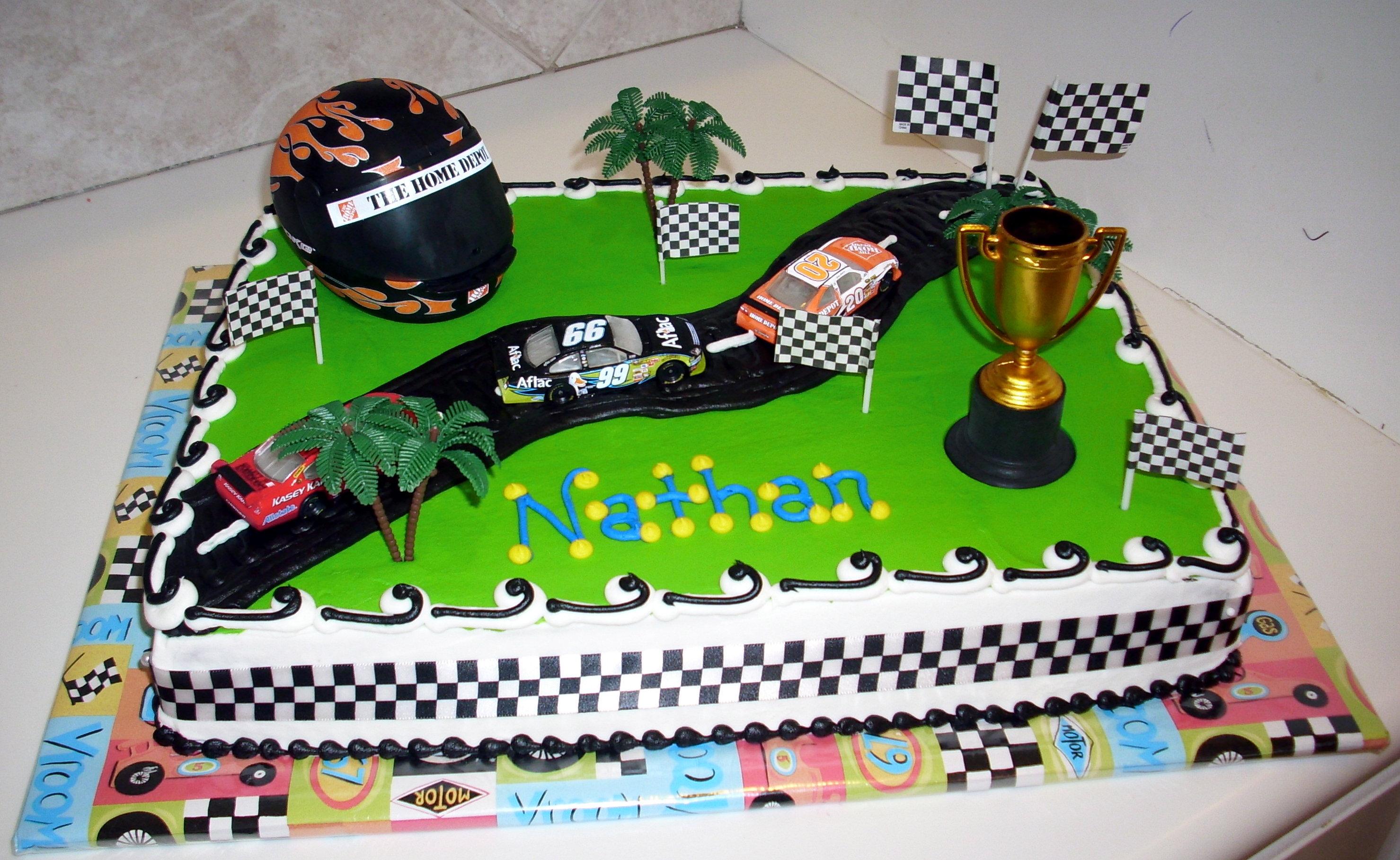 Race Track Cakes Decoration Ideas