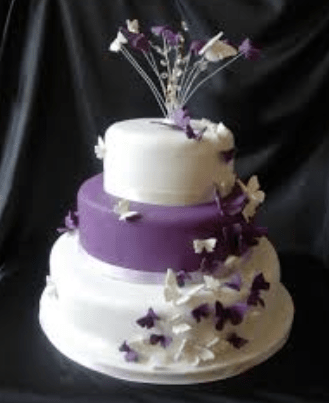Purple wedding cakes     Decoration ideas   Little Birthday Cakes purple butterfly wedding cakes