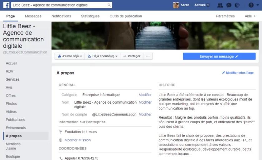 Une page Facebook peut remplacer l'existence d'un site internet