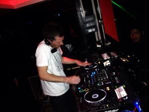 DJ Hendicott playing in Vivacity, Thimphu