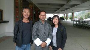 Richard & Linda Asahi at the airport in Paro, Bhutan