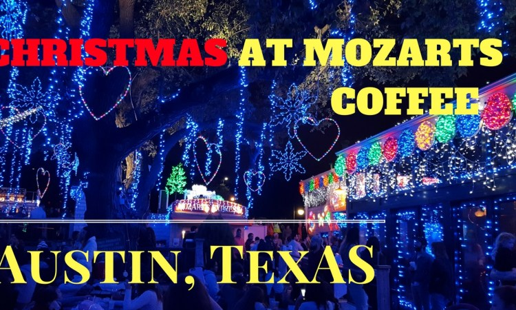 Christmas at Mozarts Coffee in Austin Texas