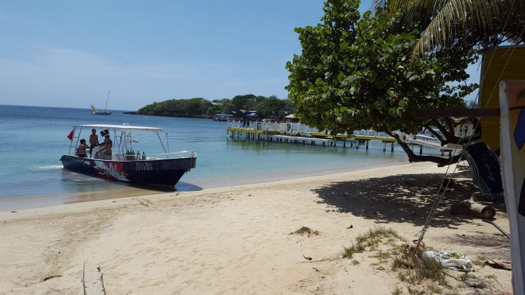 Roatan's beach at West End is on the list of Top 7 Things to Do In Roatan on the blog!