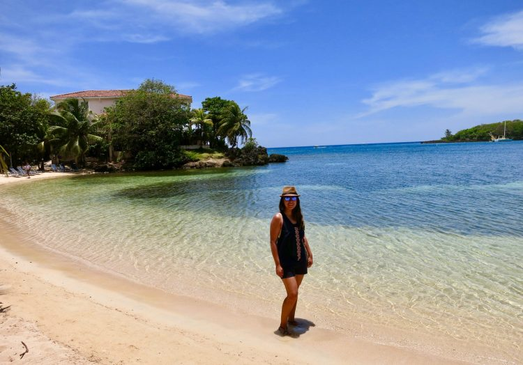 Half Moon Bay In Roatan. Relaxing, great for swimming and beautiful!