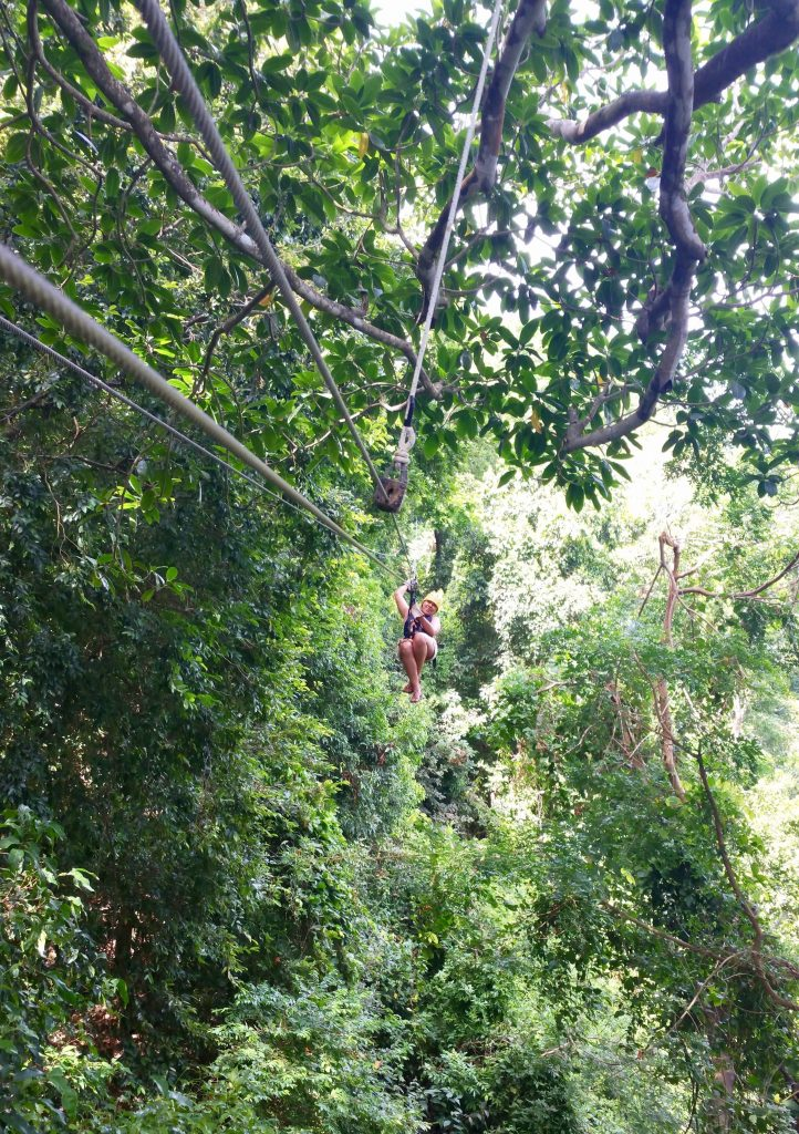 Zipline in Roatan at Monkey Trail Canopy at Gumbalimba Park. Read what you may experience here.