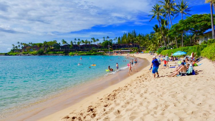 Kapalua Bay Beach in Maui Hawaii - Great for swimming and snorkeling!