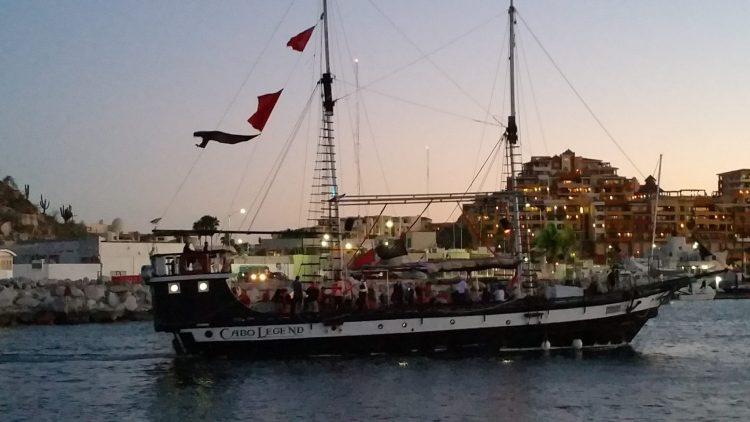 Cabo San Lucas at sundown. Watch the boats come into Cabo San Lucas Marina.
