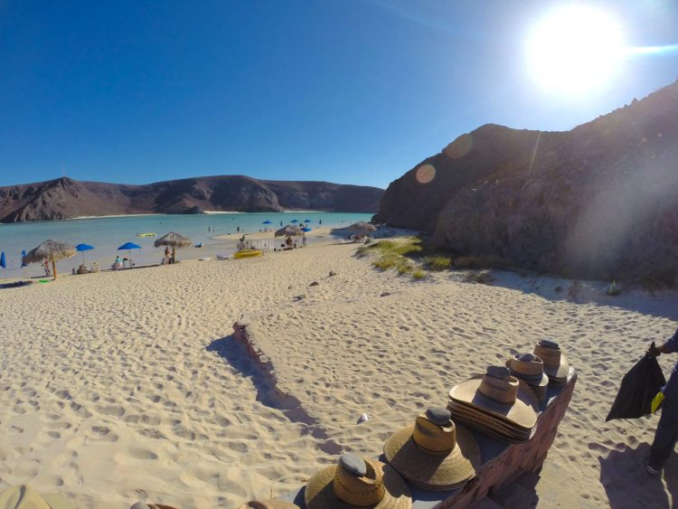 Balandra Beach in La Paz Mexico - one of the most beautiful beaches. Read more about what to do near Cabo San Lucas on the blog post.