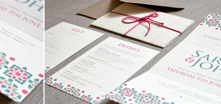 Wedding invitation, moroccan design