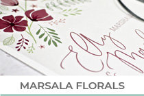 Marsala Floral Wedding Stationery