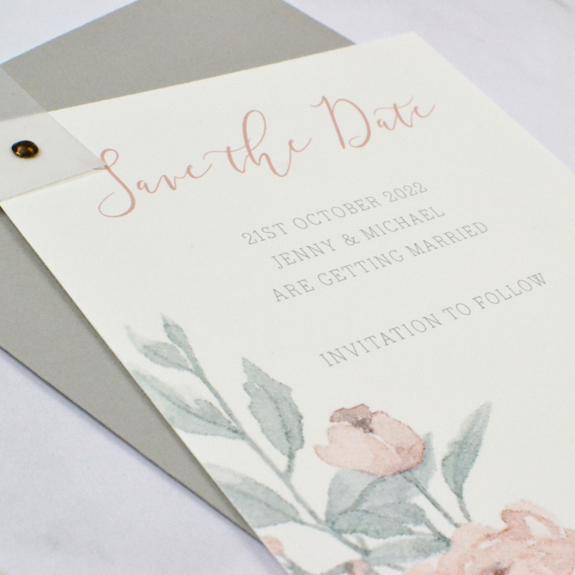 Peony Wedding Save the Date
