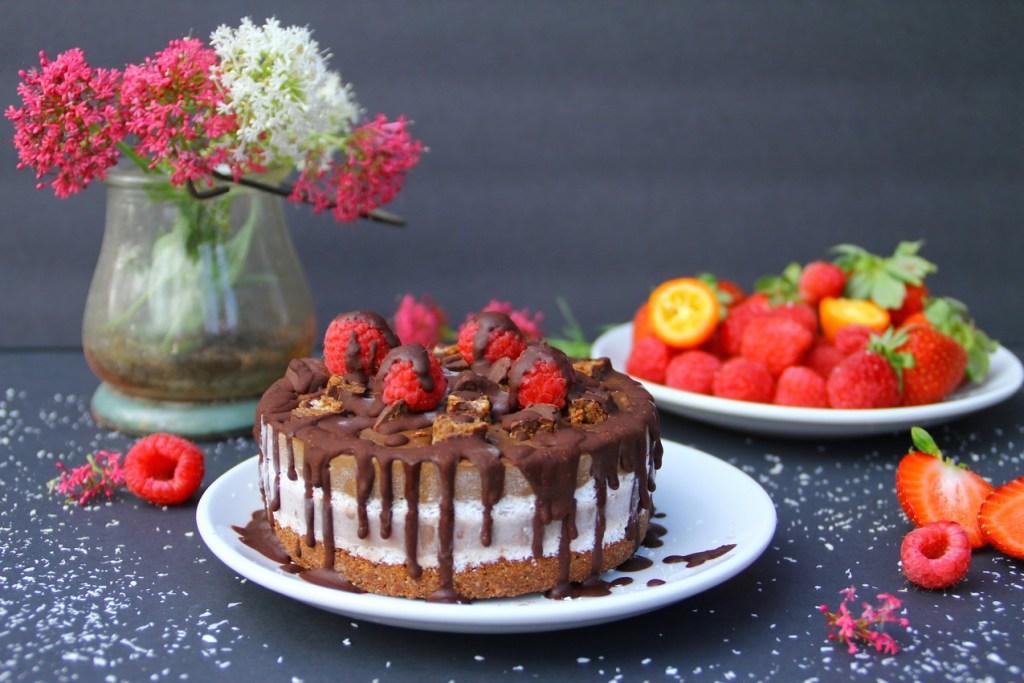 Raw Neapolitan Cake