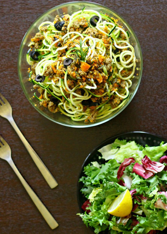 Sauce with Zucchini Noodles