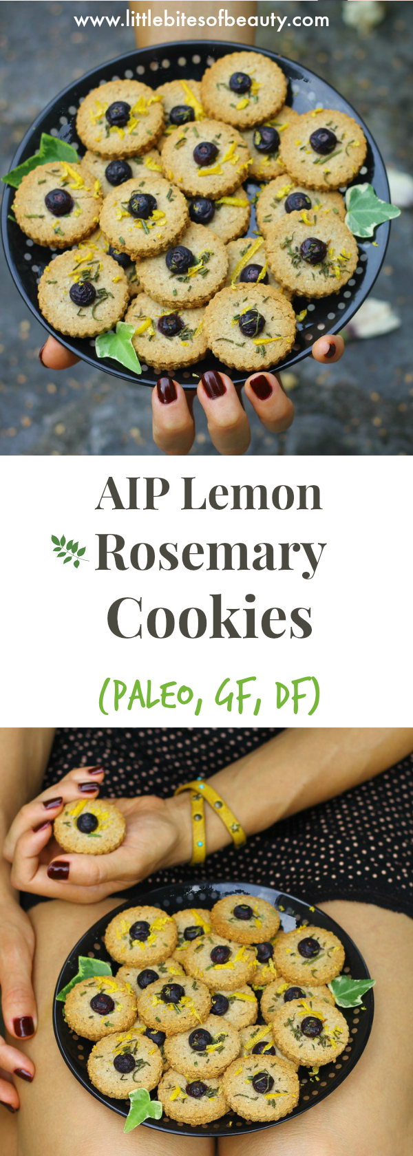 AIP Lemon Rosemary Cookies (Paleo, GF, DF)