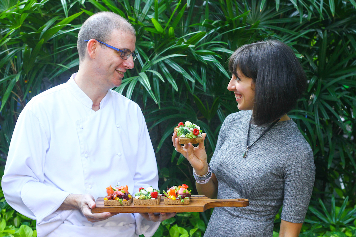 Ambra Torelli and the Chef of Intercontinental Bangkok