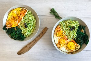 Grain Free Pesto Noodle Bowl