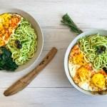 The Easiest Grain Free Pesto Noodle Bowl (GF, DF, Paleo)