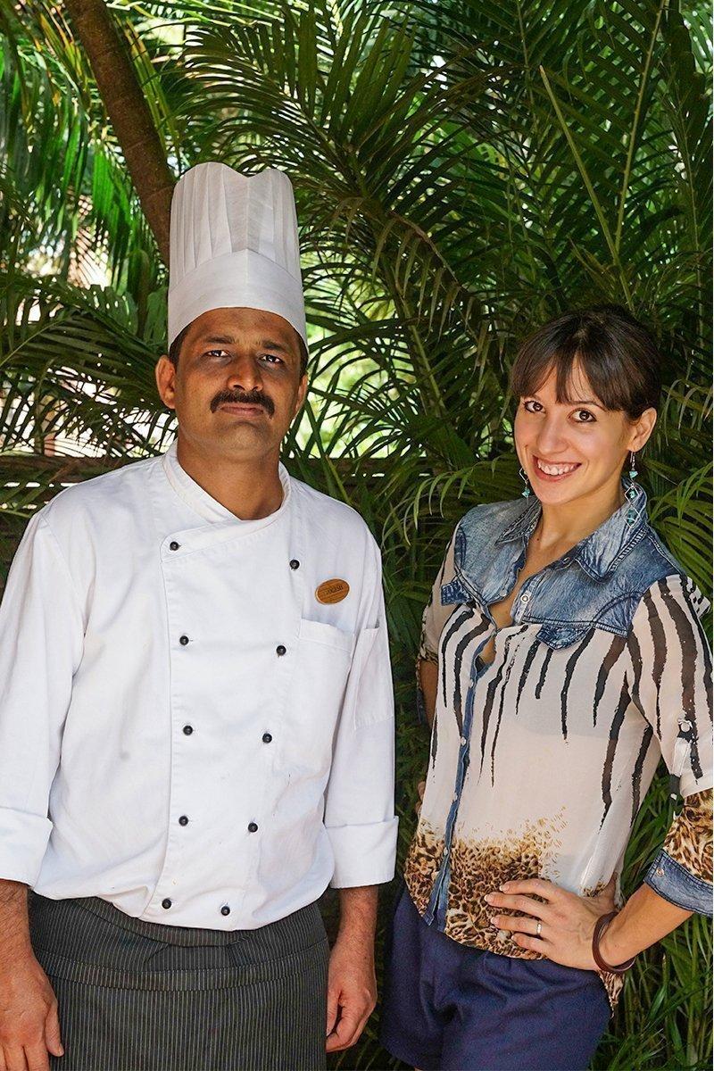 Ambra Torelli with the Park Hyatt Chef Yogesh Deshpande