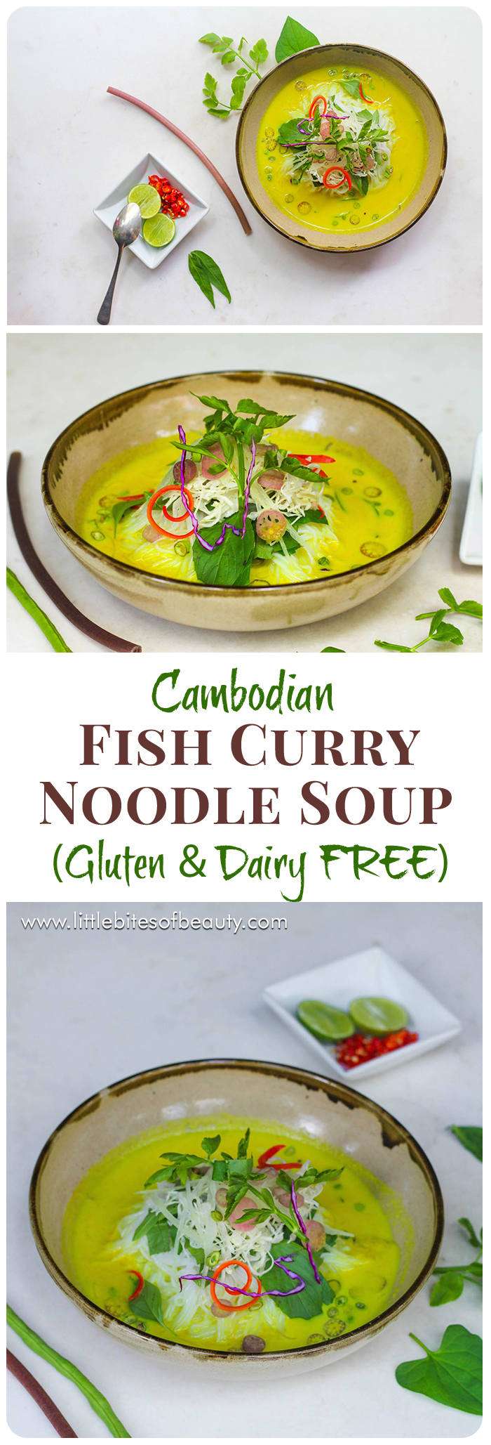 Cambodian Fish Curry Noodle Soup (Gluten & Dairy FREE)