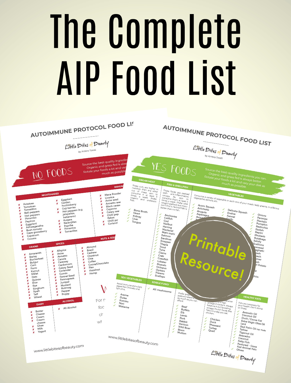The Complete AIP Food List for the Autoimmune Protocol
