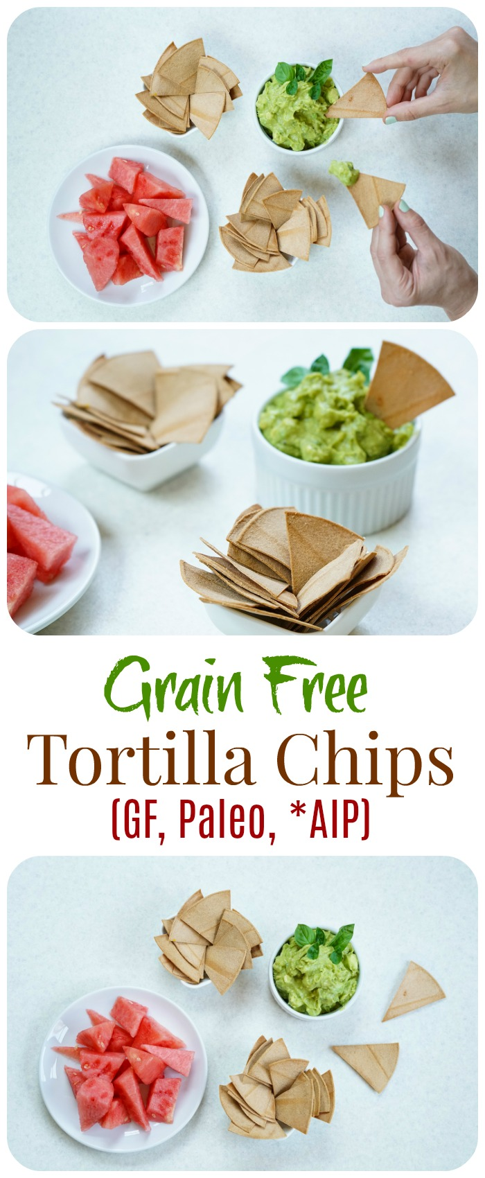 Easy Grain Free Tortilla Chips (GF, Paleo, AIP)