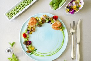 Scallops with Pea Puree (Dairy & Gluten Free, Paleo, *AIP)