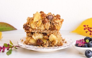 Gluten Free Apple Pie Bars (Dairy Free & Vegan)