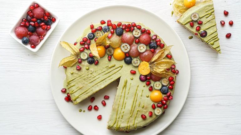 Vegan Gluten Free Almond Cake (with Matcha Glaze)