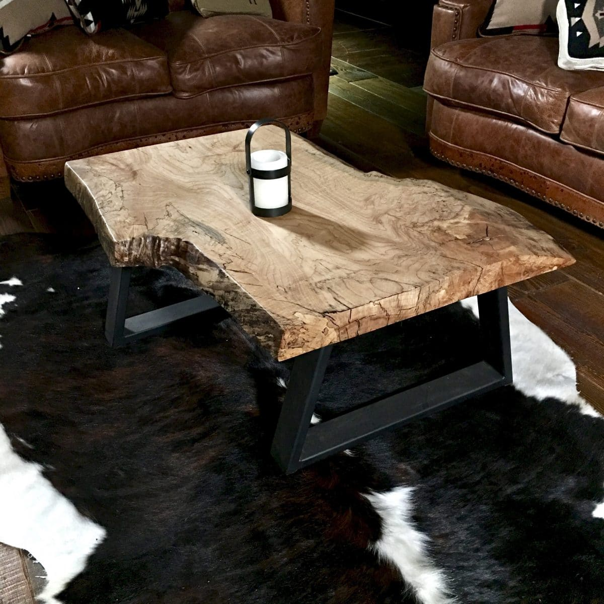 rustic modern coffee table live edge